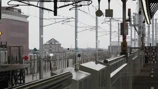 北陸新幹線E7系かがやき531号金沢行新高岡駅高速通過!※接近放送あり
