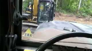 Hauling a load in the AM general M929 6x6 dump truck