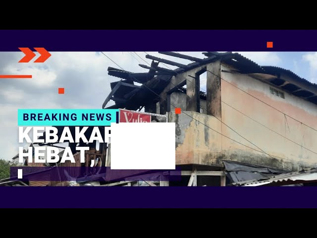 BREAKING NEWS : KEBAKARAN HEBAT, 5 RUMAH DI PAGARSIH HANGUS TERBAKAR