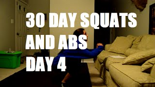 30 day abs and squats challenge day 4