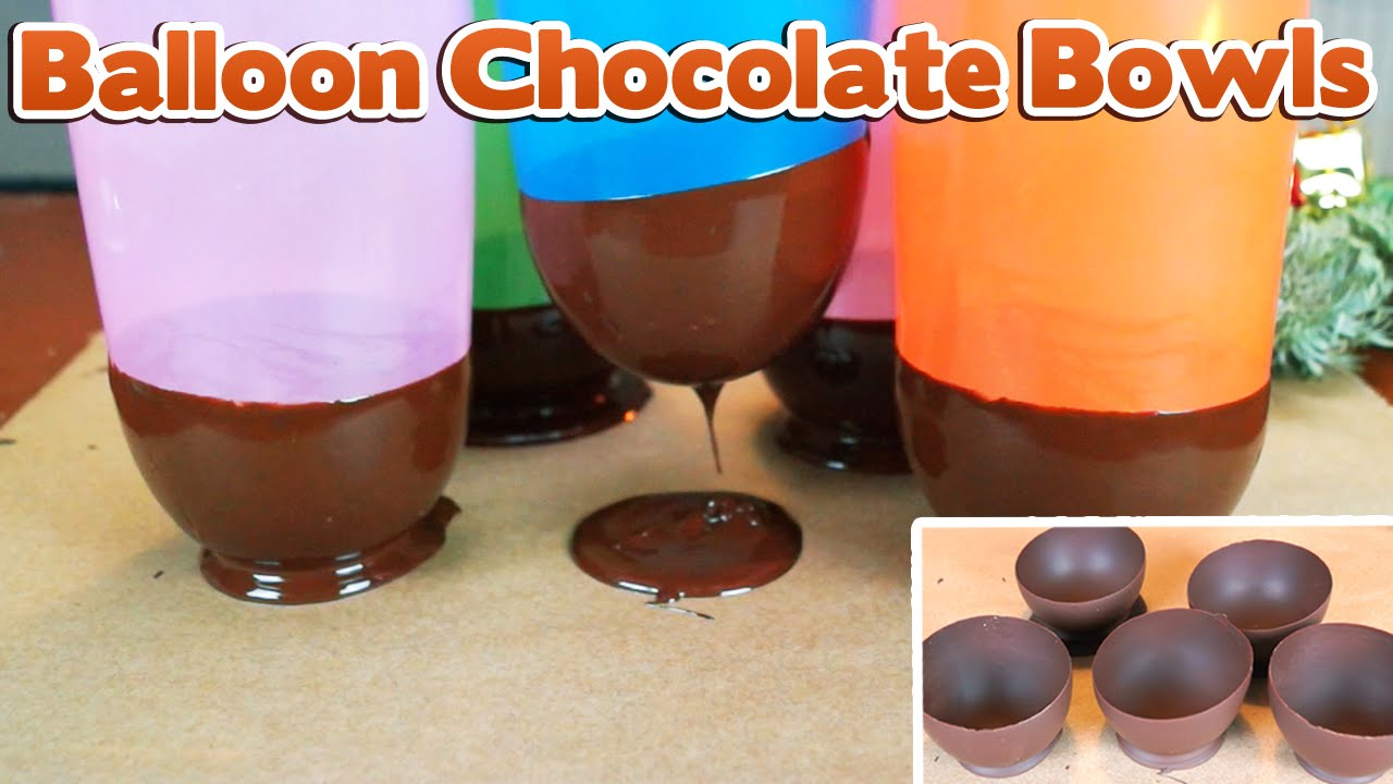 how to make balloon chocolate bowls i schokoschalen selber machen youtube. Black Bedroom Furniture Sets. Home Design Ideas