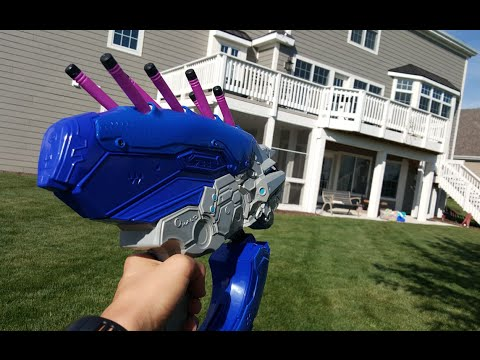 Fps Gun Duel: Halo Boomco Needler vs Nerf  Thunderbow