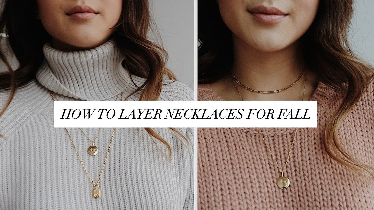 How To Layer Necklaces For Fall Ft Mejuri Getawei Youtube