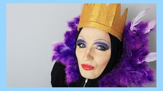Make up artist Electra Snow transforms me into Disney's Evil Queen!...