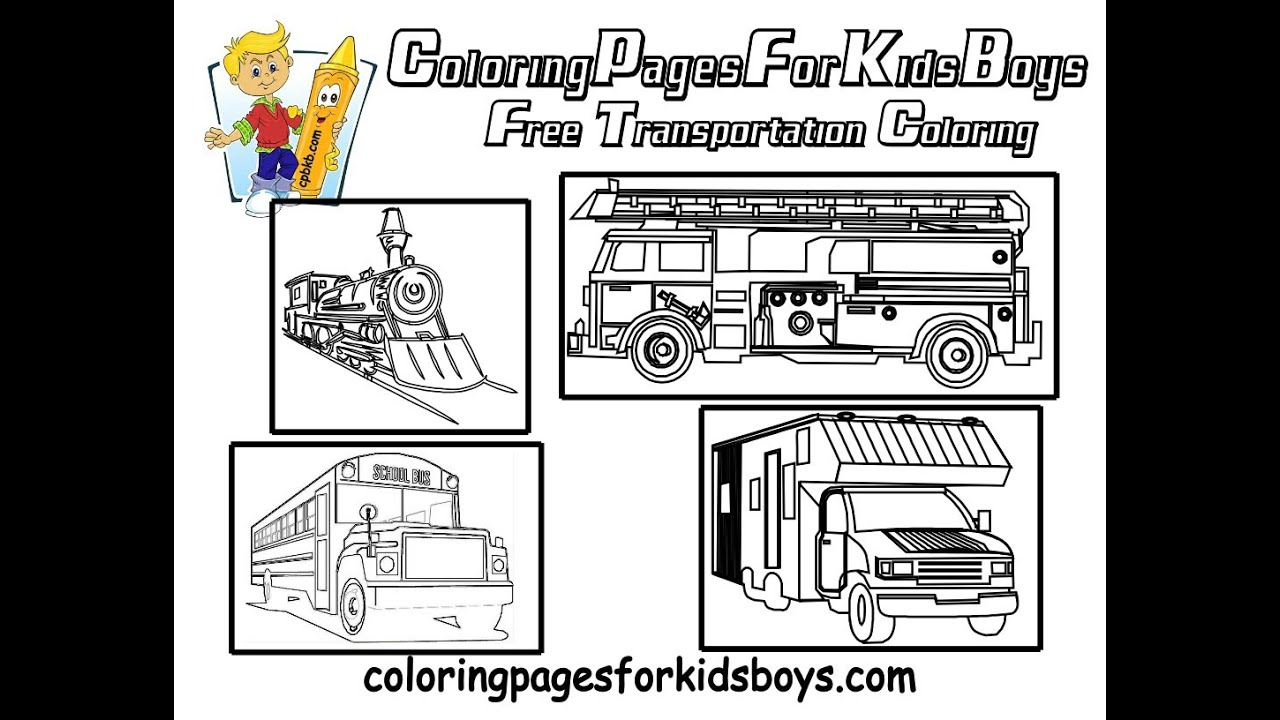coloringbuddymike transportation coloring pages youtube