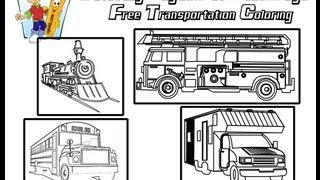 ColoringBuddyMike: Transportation Coloring Pages