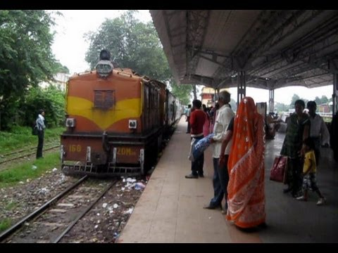 One of the SMALLEST TRAINS OF INDIA , ZDM -3A with Narrow Gauge passenger.