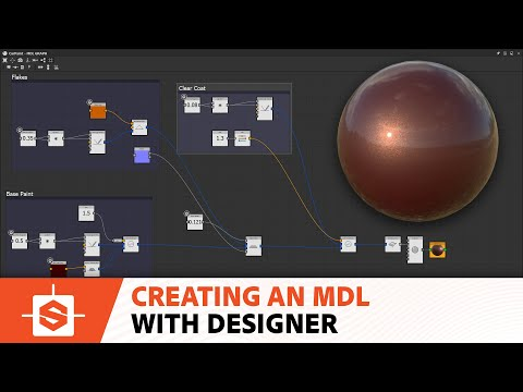 Creating a car paint MDL in Substance Designer