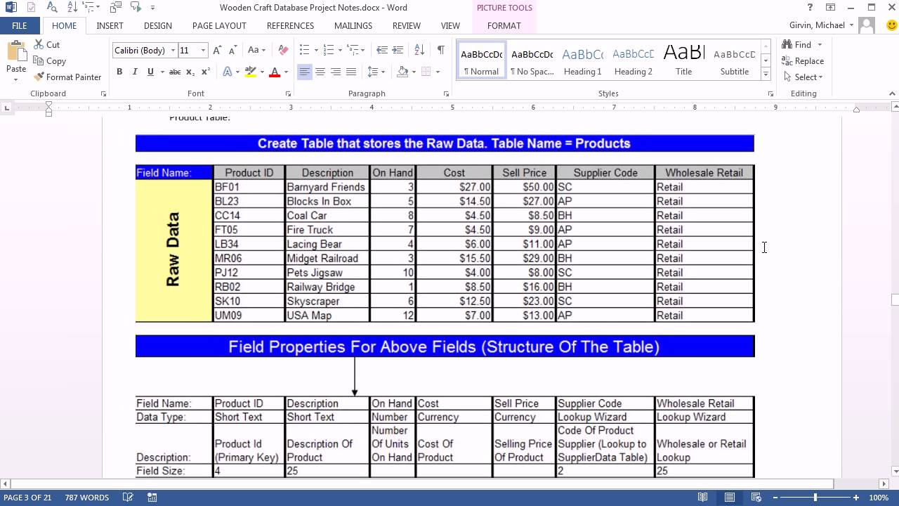 Office 2013 class 47 access 2013 create database import for Excel table design