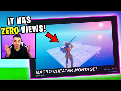 Reacting to *MACRO CHEATER* Videos With 0 VIEWS...