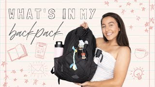 WHAT'S IN MY COLLEGE BACKPACK | School supplies, tech + some *interesting* items...