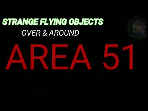 (AREA 51) STRANGE FLYING OBJECT'S NEAR MAIN GATE