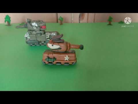 бойня двух гигантов - мультики про танки