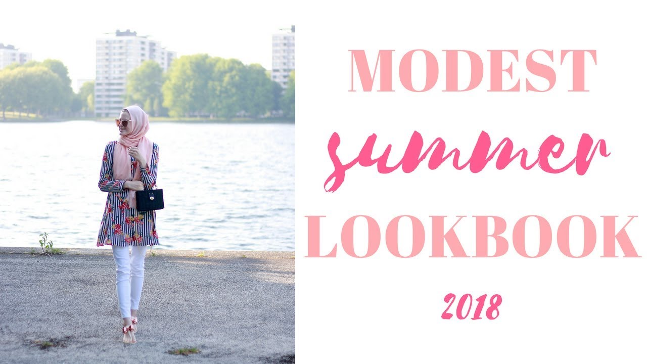 6f8c296fbf04 Modest Summer lookbook 2018 - YouTube
