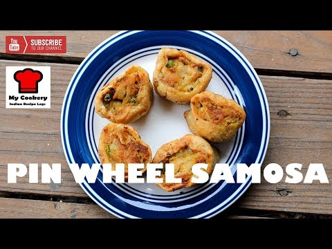 Pin Wheel Samosa (Kids Lunch Box Special) | My Cookery - Indian Recipe Logs #41