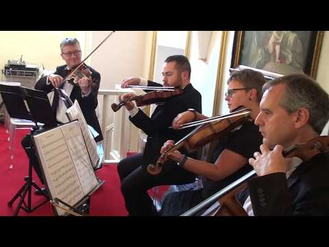 North East Soiree String Quartet performing at Lartington Hall