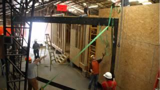 ArkDB - Courtyard House - Flitch Frame Installation