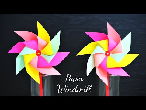 DIY Paper Windmill / Simple Tutorial :: 종이 바람개비 만들기 / 바람개비 접기 #2