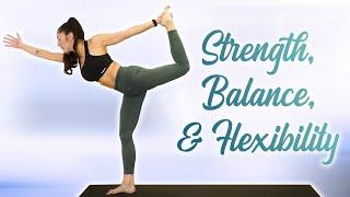 Power Yoga Sweat | 30 Min Flow, Cardio Workout, Flexibility, Balance, Intermediate Level  Fat Burn