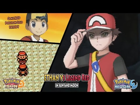 Pokemon Gold Remake In Sun And Moon Parody: Ethan Vs Legend Red (Mount Silver)