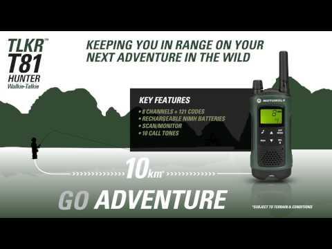 Motorola Solutions TLKR T81 Hunter Walkie Talkie Consumer Radio