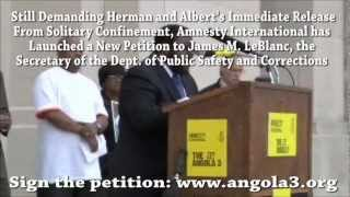 Amnesty International Delivers Petition for the Angola 3 at LA State Capitol