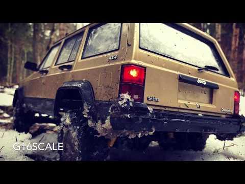RC Scale Studio Trucks 4x4 Snow Adventures Rc4WD Trail Finder 2 LWB 4х4 Jeep Cherokee  Forest Trail