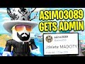 ASIMO3089 Gets ADMIN POWERS In MAD CITY... | Roblox Mad City