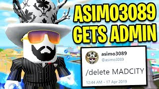 ASIMO3089 Obtient ADMIN POWERS In MAD CITY... Ville folle de Roblox