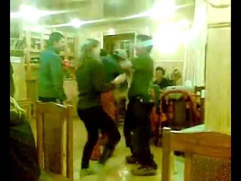 Dancing in a lodge in Namche Bazar