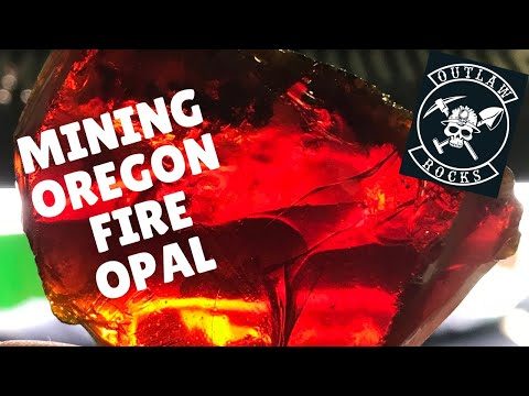 Mining Oregon Fire Opal