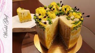 Муссовый постный торт Манго | Веганский рецепт