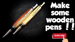 Woodturning an executive twist wooden pen ! Κατασκευη ξυλινου στυλο !