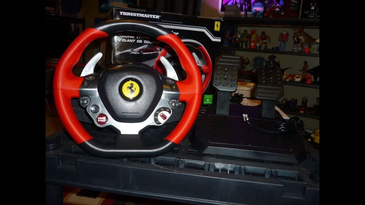 thrustmaster xbox one ferrari 458 spider wheel unboxing. Black Bedroom Furniture Sets. Home Design Ideas