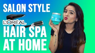 Easy Steps To Do Hair Spa At Home|| L'oreal Hair Spa At Home