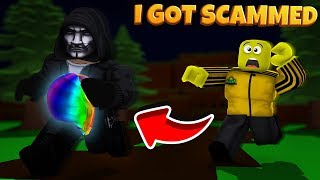 I swapped accounts with a noob and got SCAMMED *sad news* (roblox)
