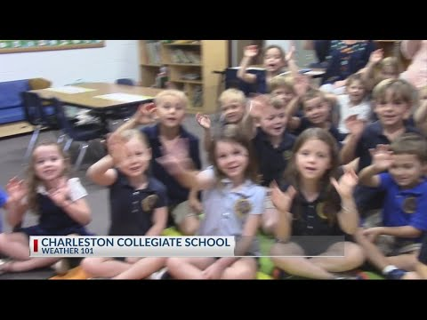 Rob  Fowler visits Charleston Collegiate School for Weather 101