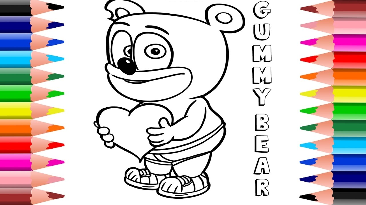 gummy bear coloring page # 72
