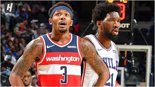 Washington Wizards vs Philadelphia 76ers - Full Game Highlights | October 18, 2019 NBA Preseason