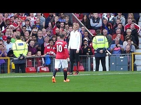 Darren Fletcher Has Words With Wayne Rooney After He Is Sent Off Against West Ham - Fan Footage
