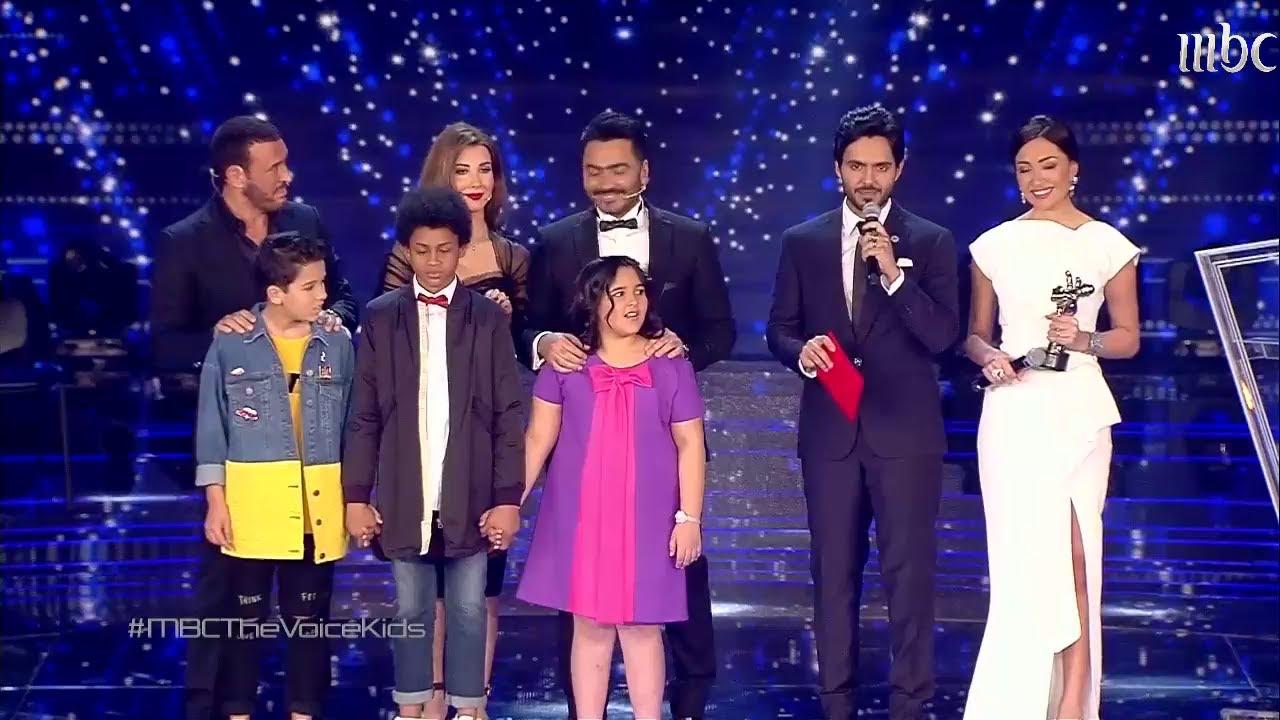 لحظة فوز حمزة لبيض في الموسم الثاني من The Voice Kids
