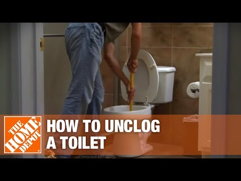 How to Unclog a Toilet - The Home Depot - YouTube
