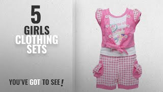 10 Best Girls Clothing Sets [2018 Best Sellers]: Golden Girl Baby Baby Girl's Cotton Top and Shorts
