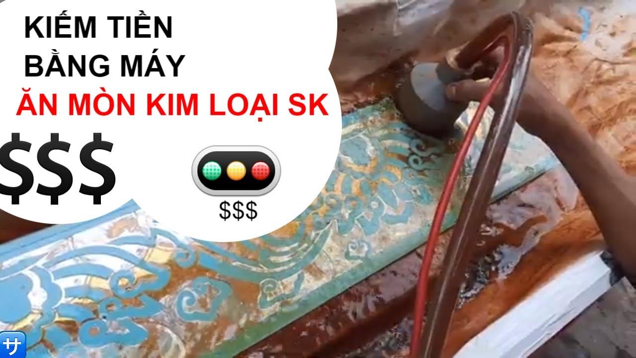 Ăn mòn inox bằng máy ăn mòn kim loại SK Limited Edition | Đặng Khôi