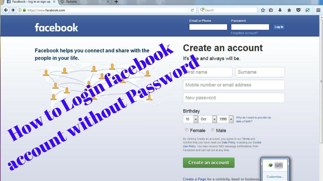how to login FACEBOOK Account without PASSWORD / Facebook login without  password 100% working