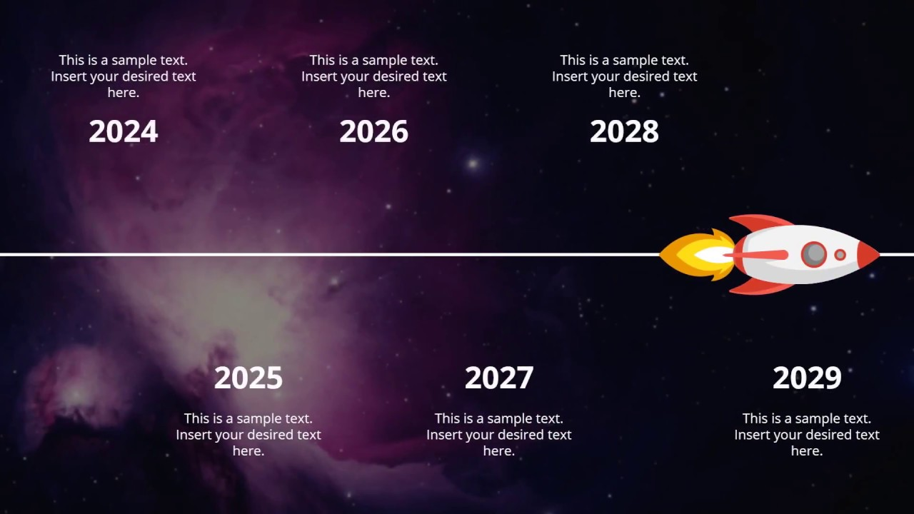 Animated Spaceship Roadmap Concept Powerpoint Template Youtube