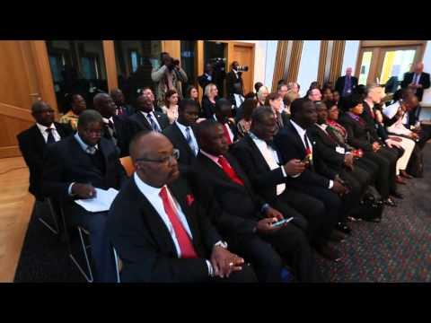 President JD Mahama at the Scottish Parliament