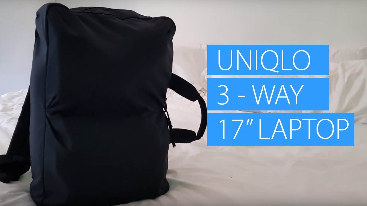 Uniqlo 3 way Bag (Backpack) Small Carry on Packing for Six Days With 17