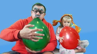 Learn and play with Balloons. Fun playtime for kids with Finger Family song for children