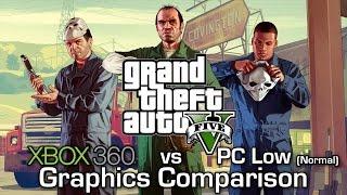 GTA V - Xbox 360 vs PC (Low) - Graphics Comparison (60 FPS)